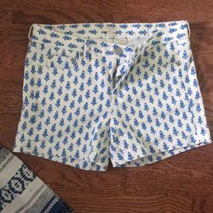 J crew patterned shorts